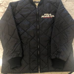 XL Black Polo Jeans Ralph Lauren Quilted Jacket